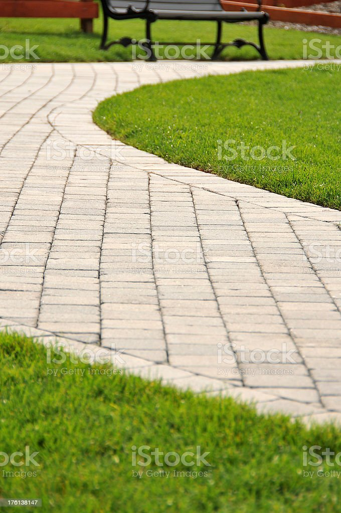 Curved Walkway royalty-free stock photo