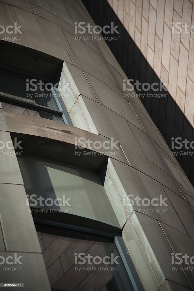 Curved Wall at Denver Public Library stock photo