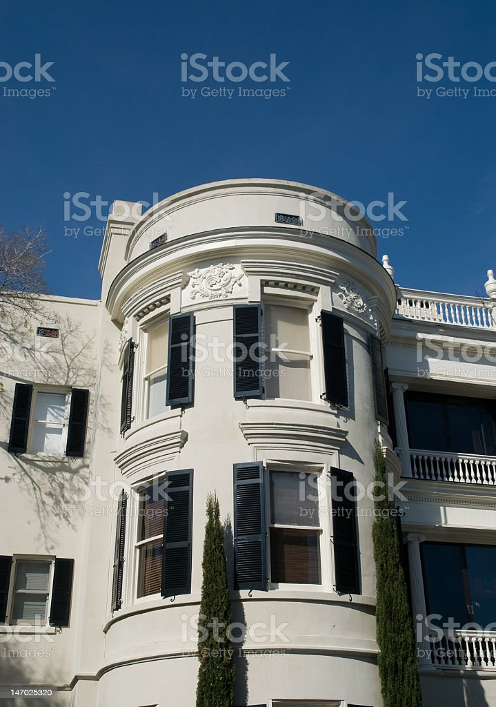 Curved White House In Charleston royalty-free stock photo