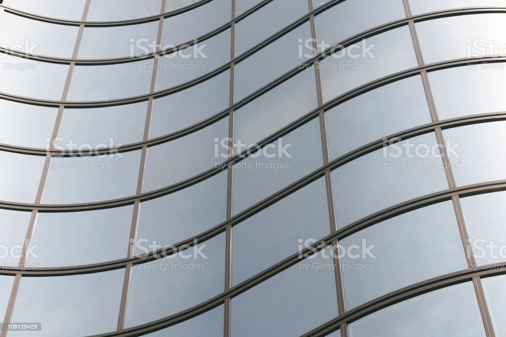 Curved Windows of Glass Building royalty-free stock photo
