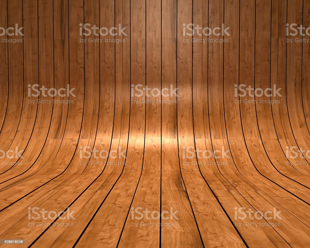 Curved wooden background stock photo