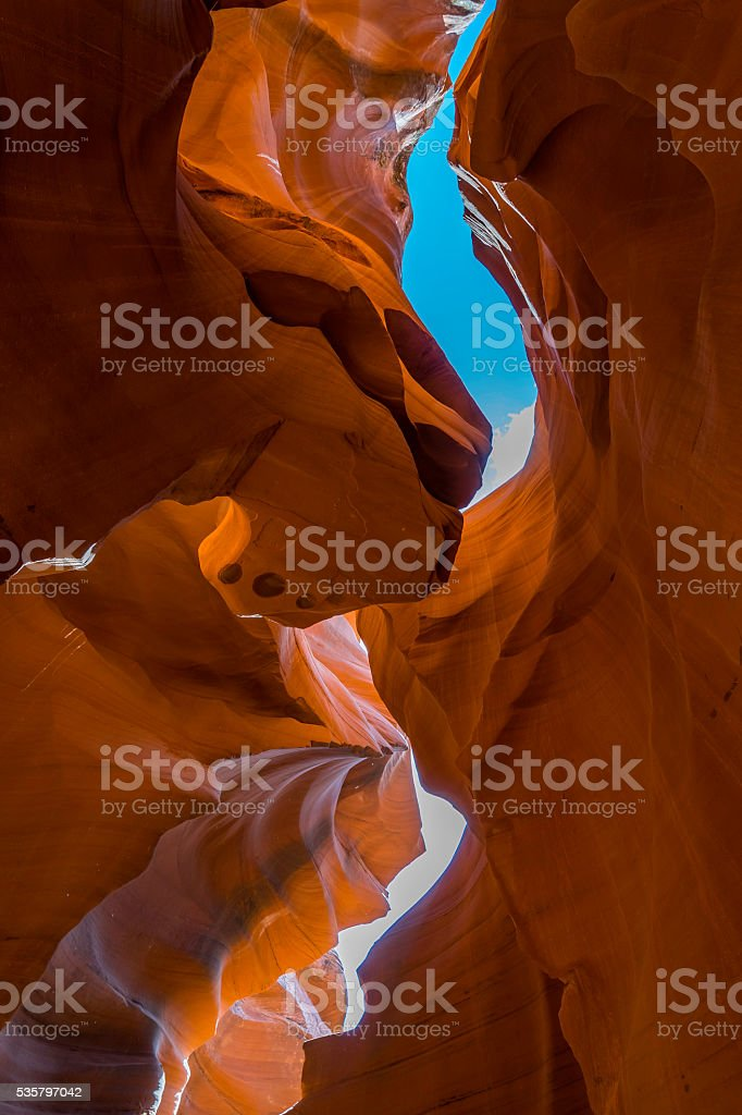 Curves and Shapes of Lower Antelope Canyon stock photo