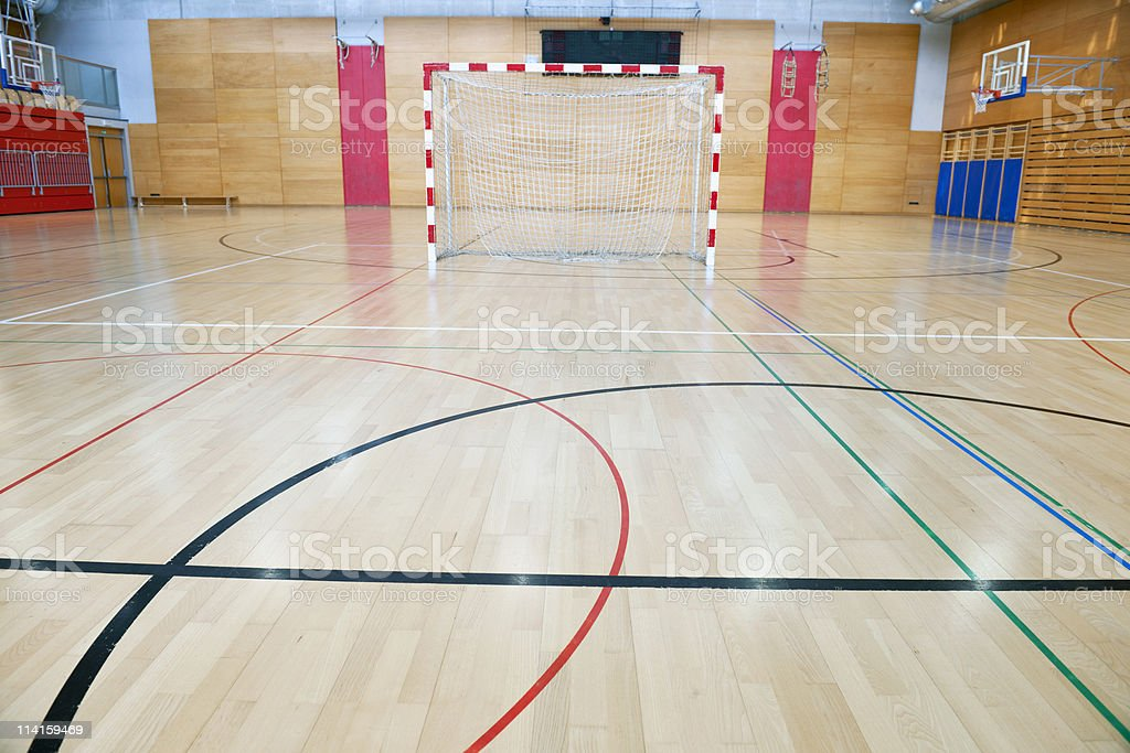 Curves and Soccer Goal royalty-free stock photo