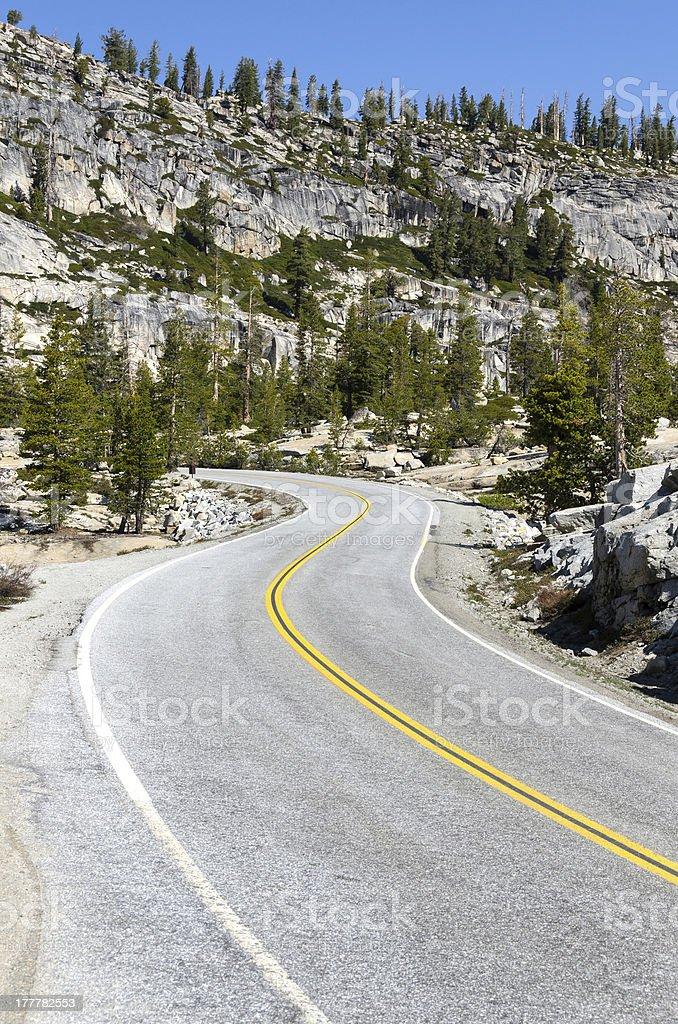 curves in Yosemite stock photo