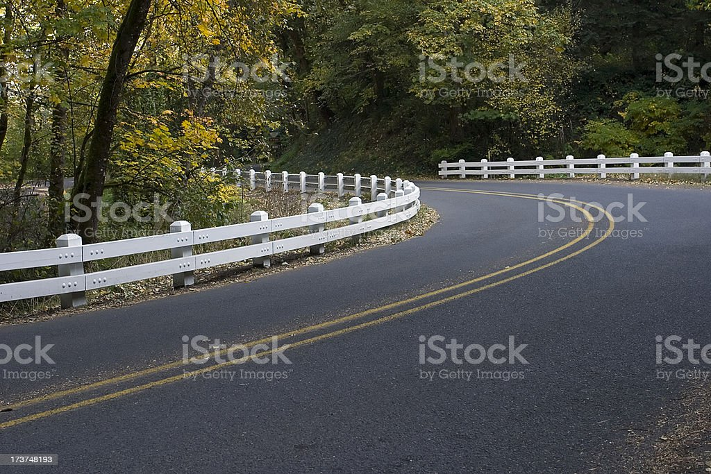 Curving Country Road stock photo