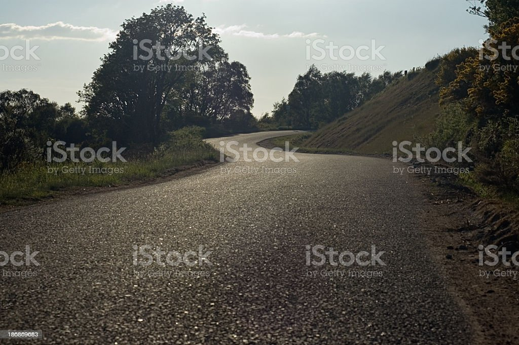 Curving Country Road royalty-free stock photo