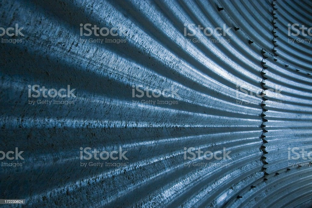 curving metal wall royalty-free stock photo