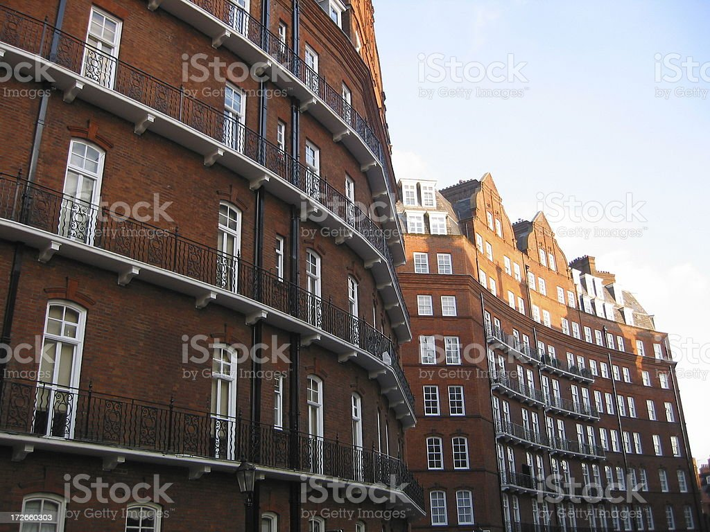 Curving Red Brick Building royalty-free stock photo