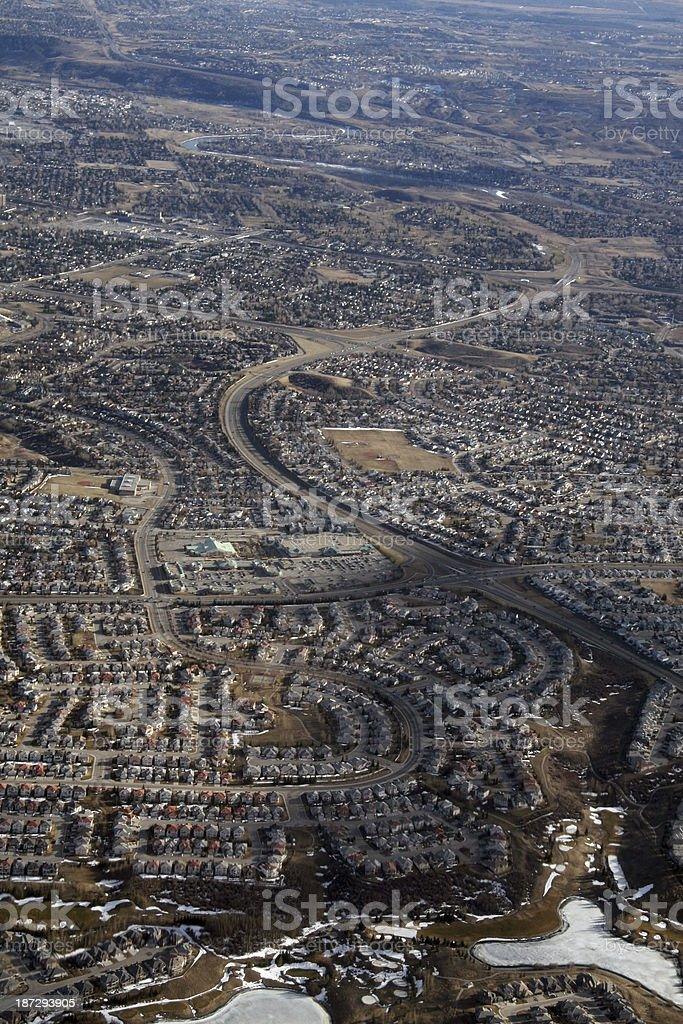 Curving Road Calgary royalty-free stock photo