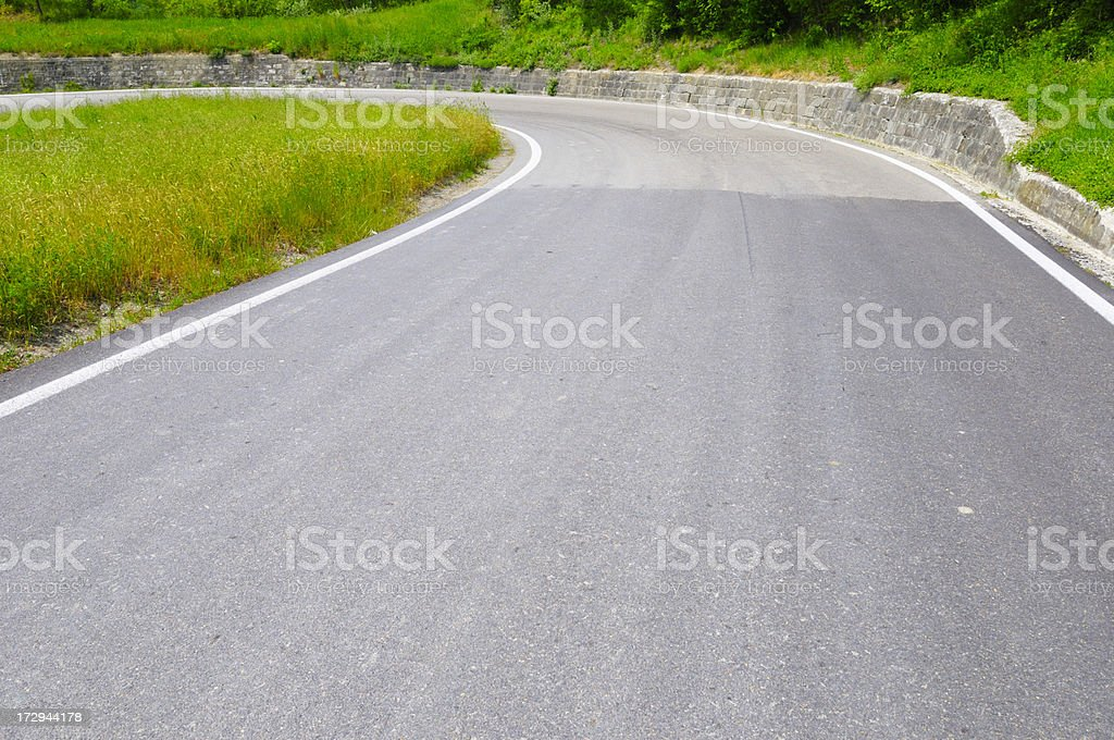Curving Road royalty-free stock photo