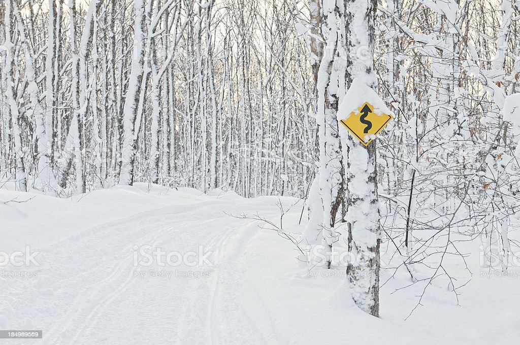 Curving Trail royalty-free stock photo