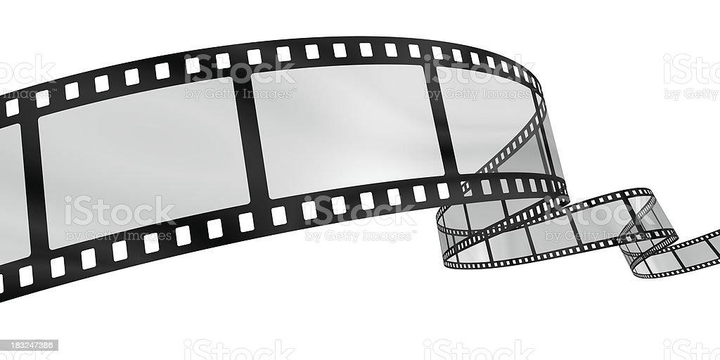 Curvy film reel stock photo