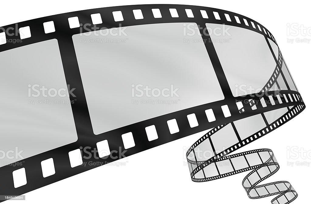 Curvy film strip stock photo