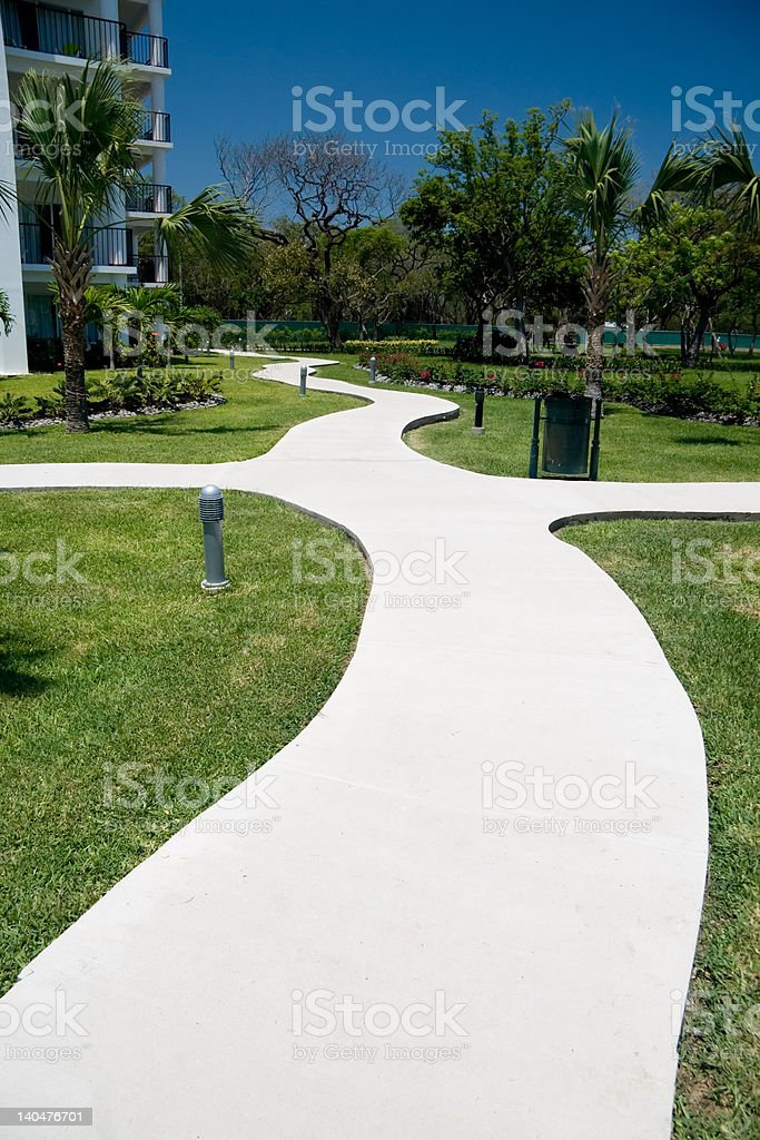 Curvy Path stock photo