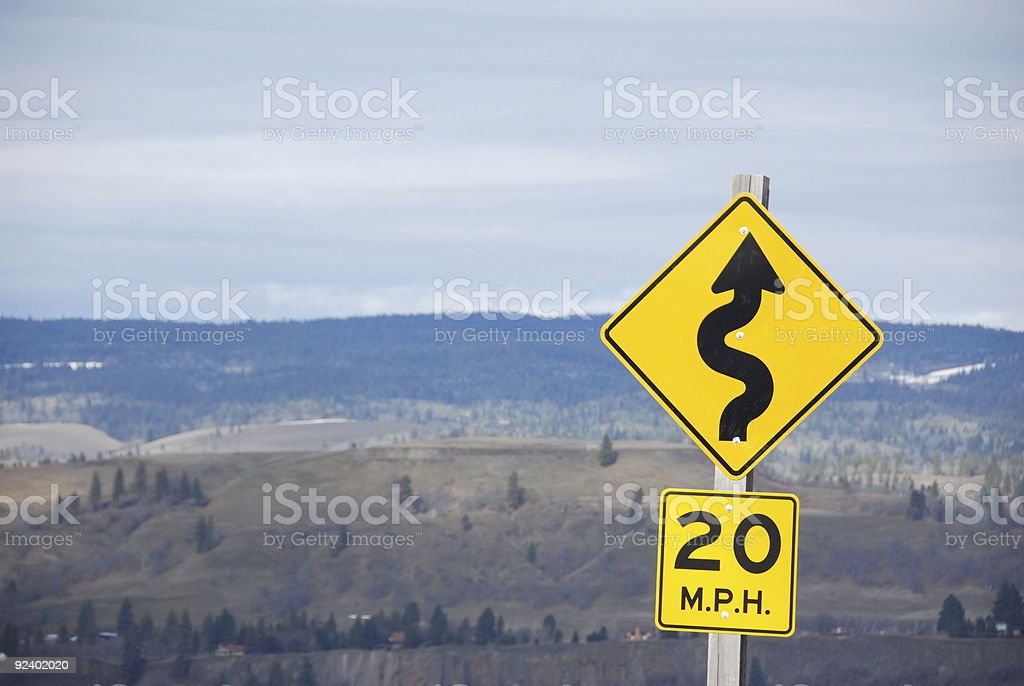 Curvy Road Ahead stock photo