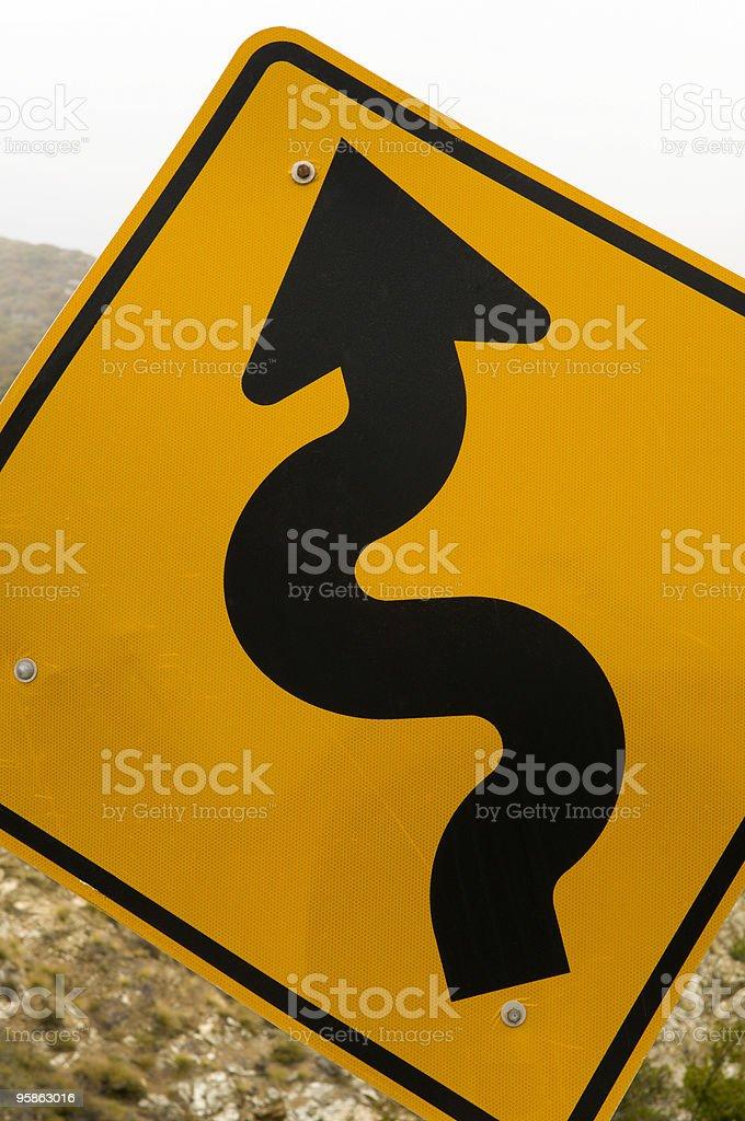 Curvy Road Ahead! royalty-free stock photo