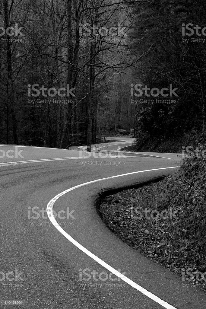 curvy road Lizenzfreies stock-foto
