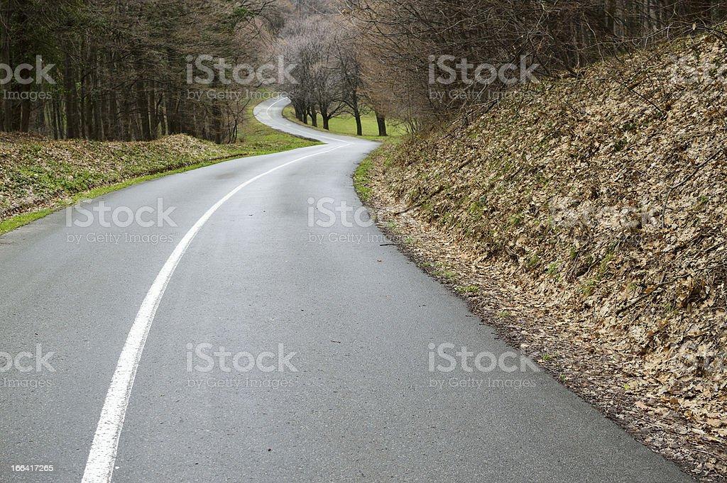 Curvy road royalty-free stock photo