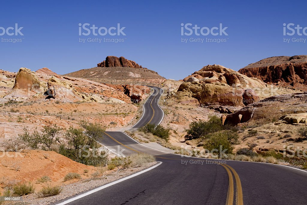 Curvy road stock photo