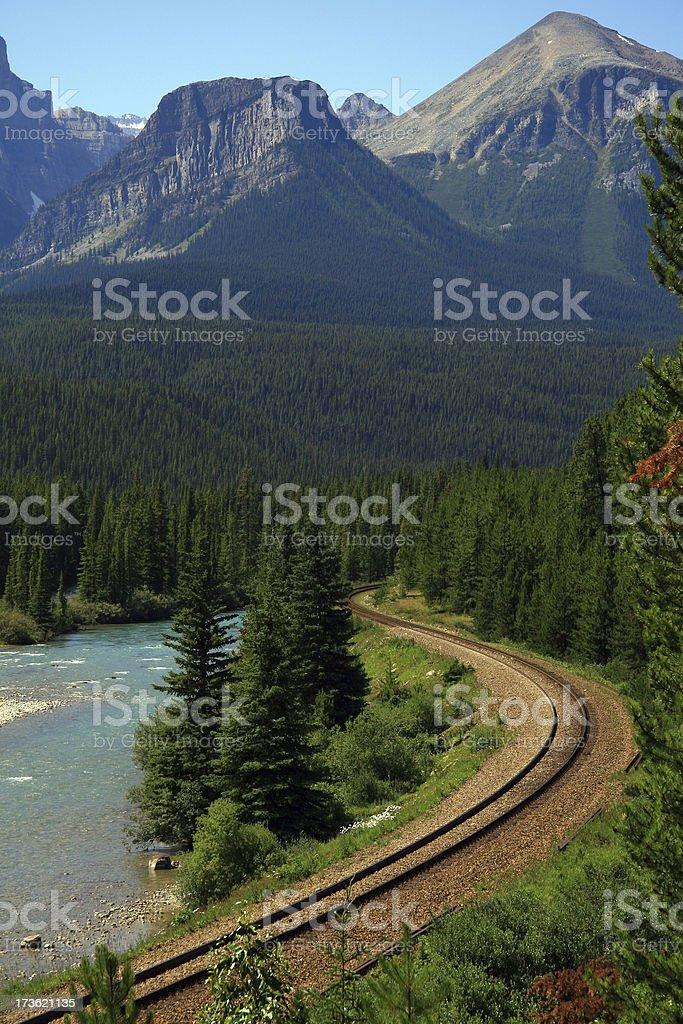 Curvy Track royalty-free stock photo