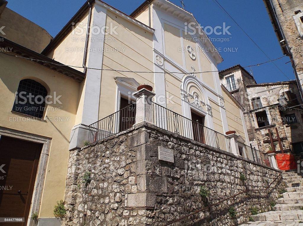 Cusano Mutri - Chiesa di San Nicola stock photo