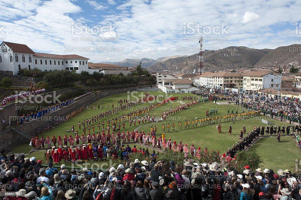 Cusco's İnti Rami Festival stock photo