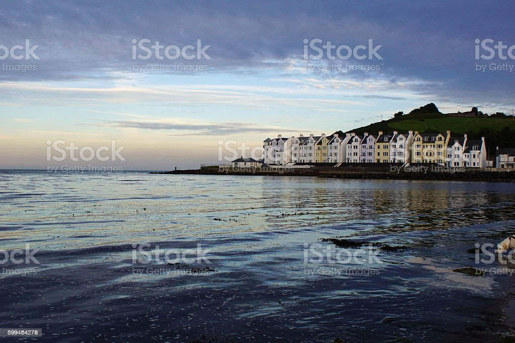 Cushendun Bay stock photo