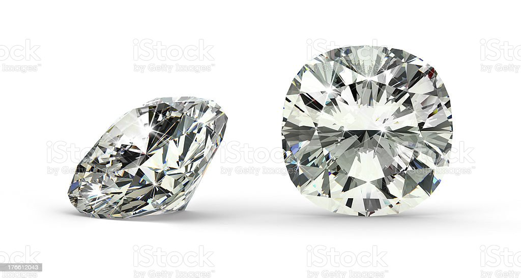 Cushion Cut Diamond stock photo