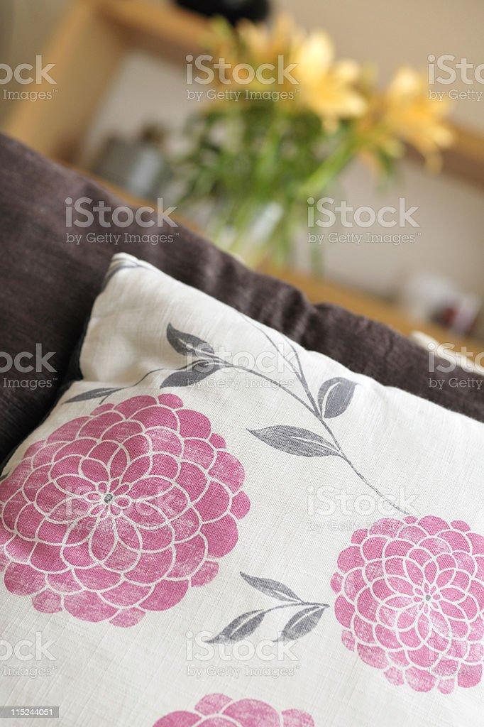 Cushion in contemporary interior royalty-free stock photo