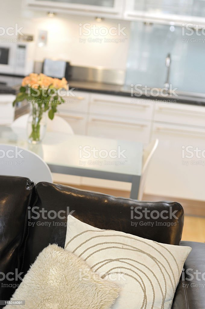 Cushion in contemporary interior royalty-free stock photo