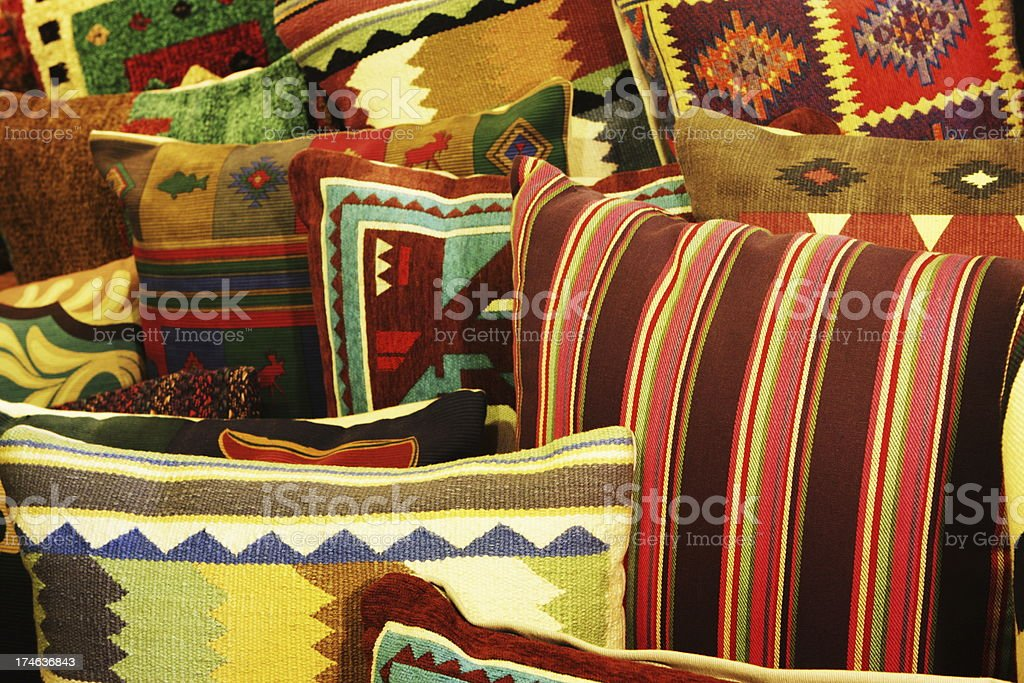Cushion Pillow Furnishings Southwest Decor royalty-free stock photo