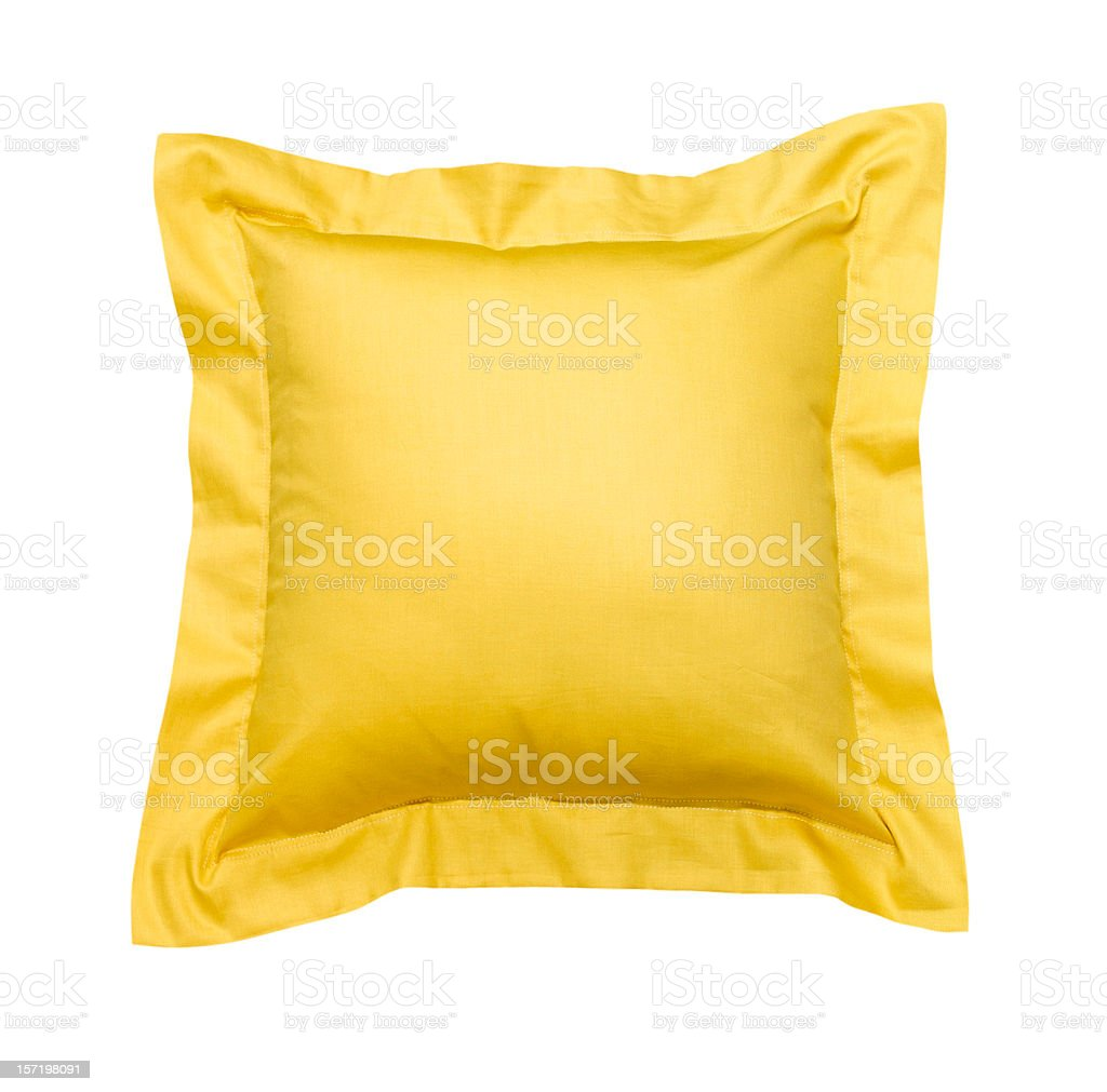 Cushion Yellow royalty-free stock photo