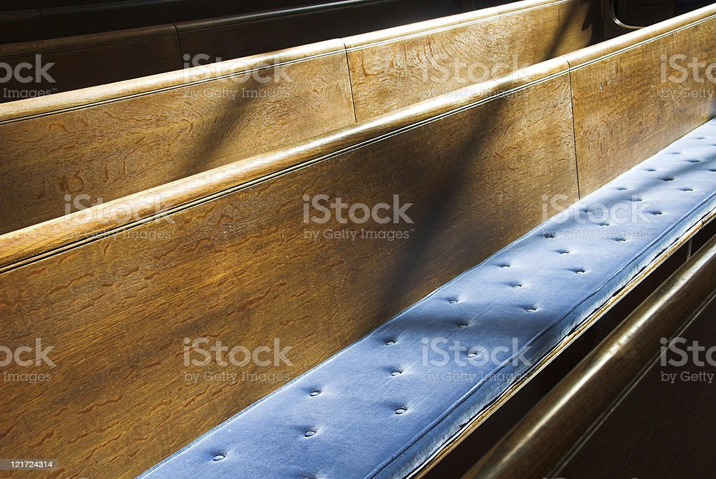 Cushioned Pew royalty-free stock photo