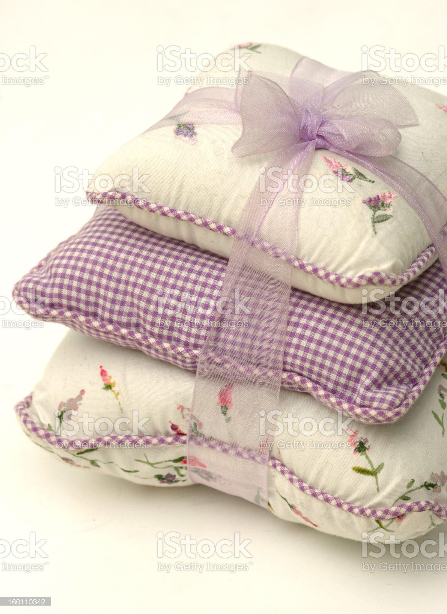 Cushions and Ribbon royalty-free stock photo