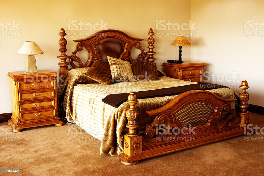 Cushions on the bed royalty-free stock photo