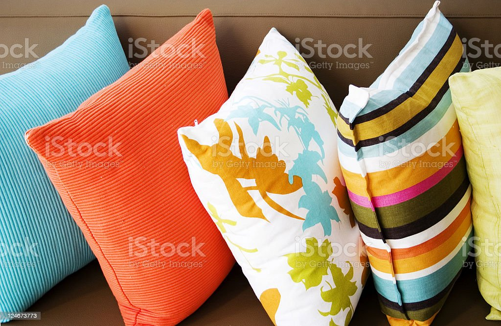 Cushions stock photo