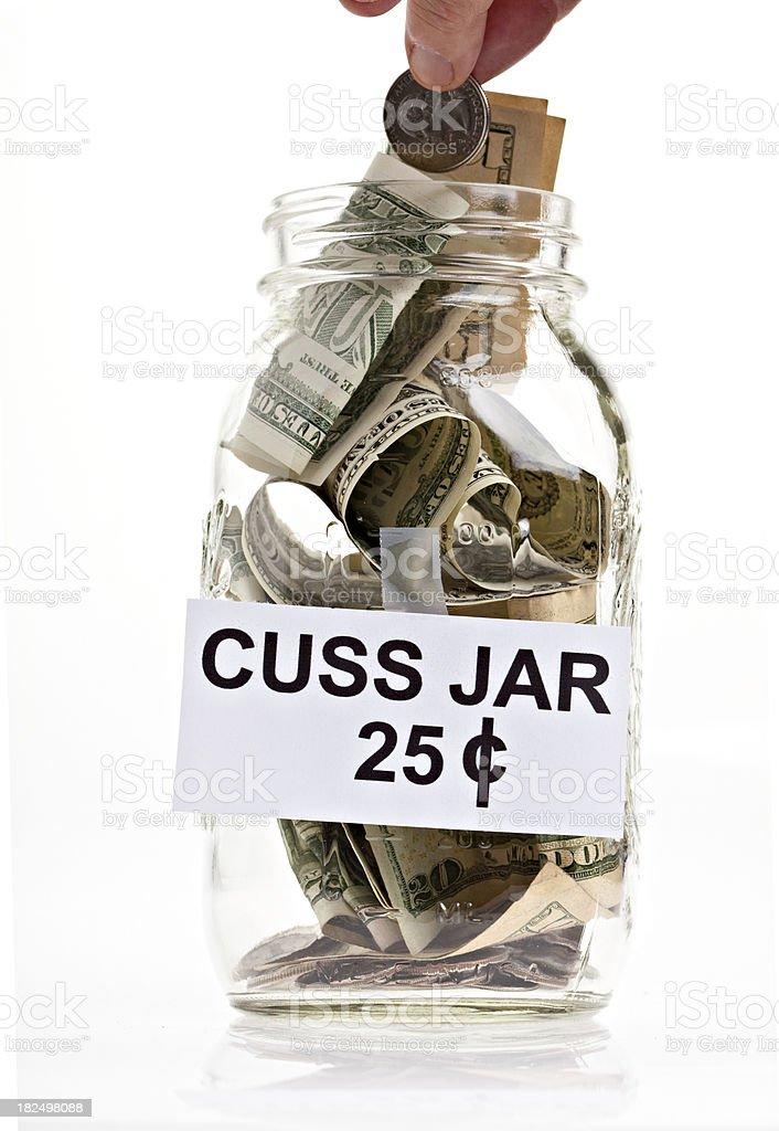 Cuss Jar 25 Cents royalty-free stock photo