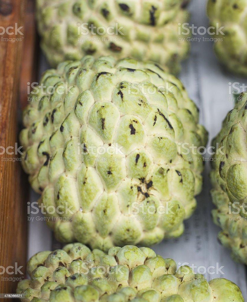 Custard apple in the market stock photo