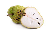 custard apple on white background.