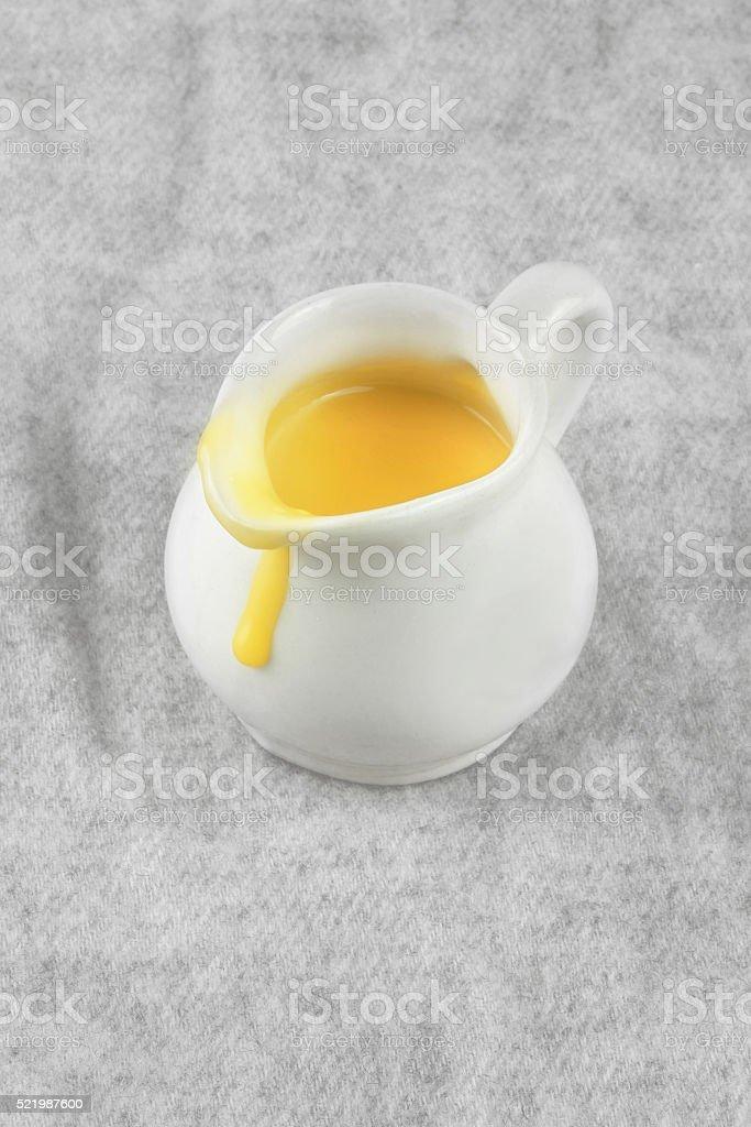 custard jug stock photo