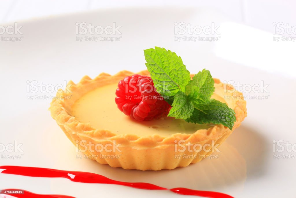Custard tart stock photo