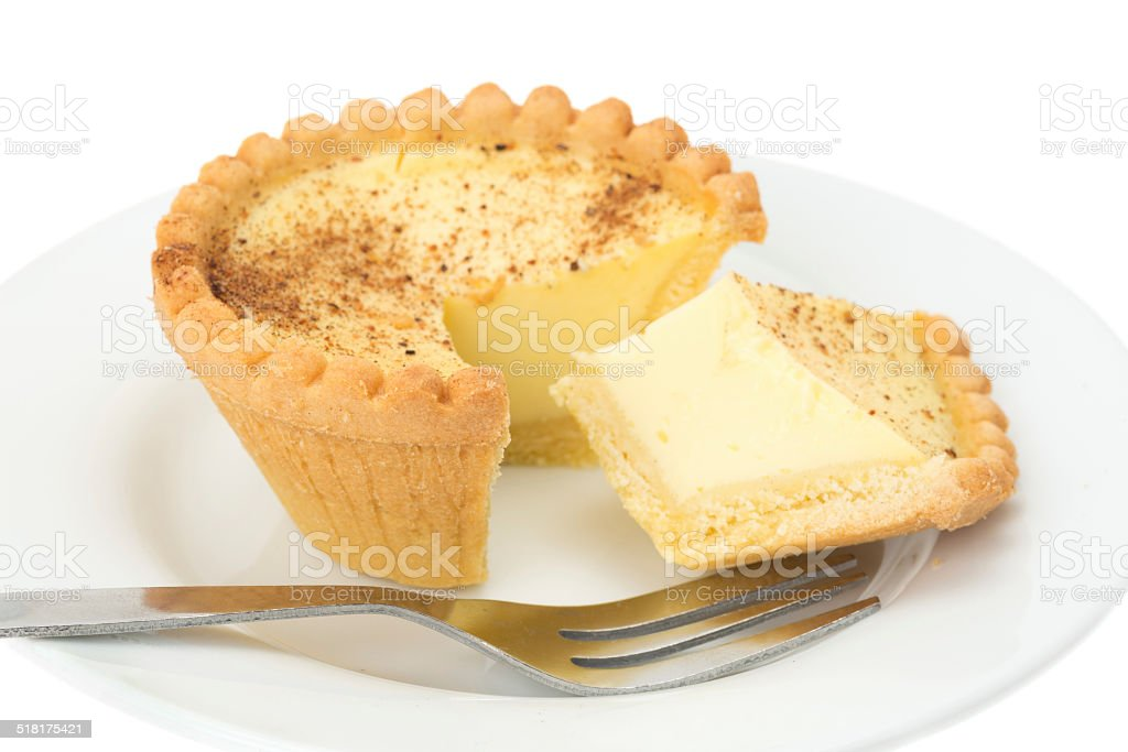 Custard tart stock photo