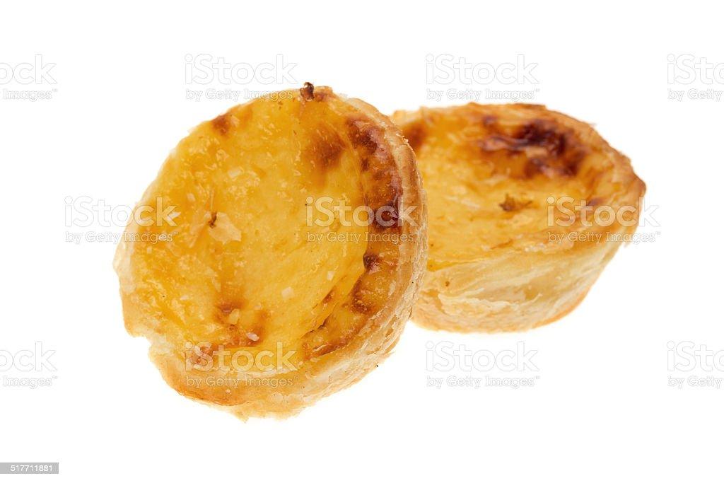 Custard tarts stock photo