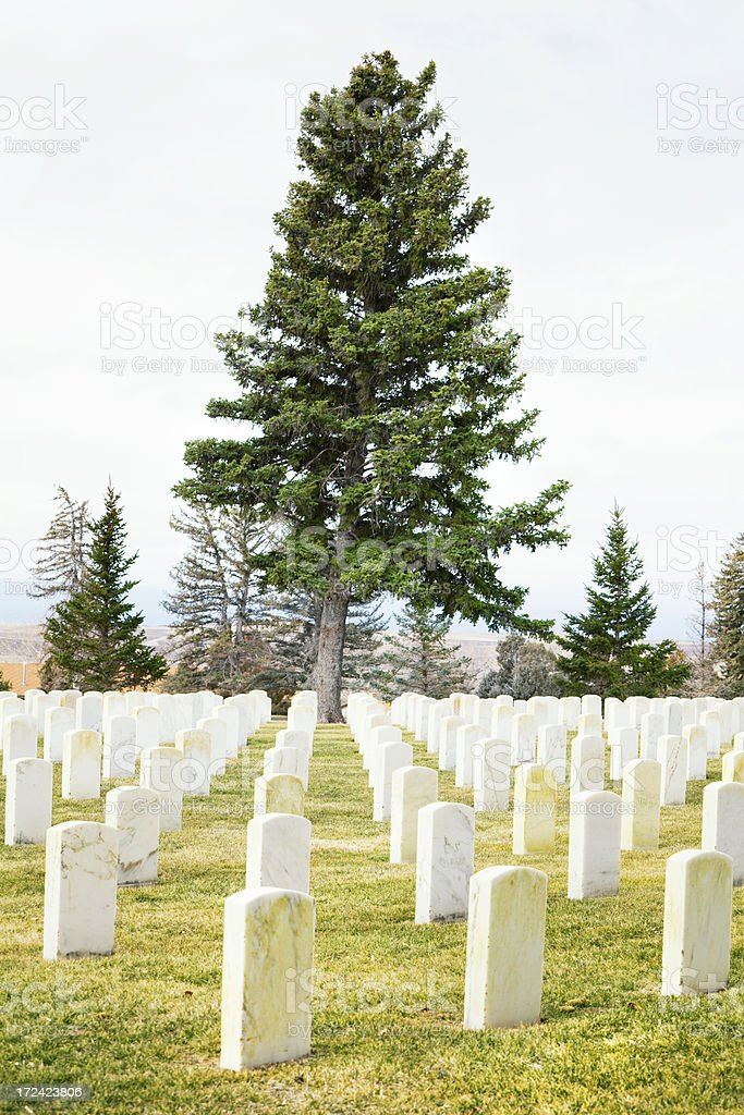 Custer National Cemetery at Little Bighorn Battlefield Monument royalty-free stock photo