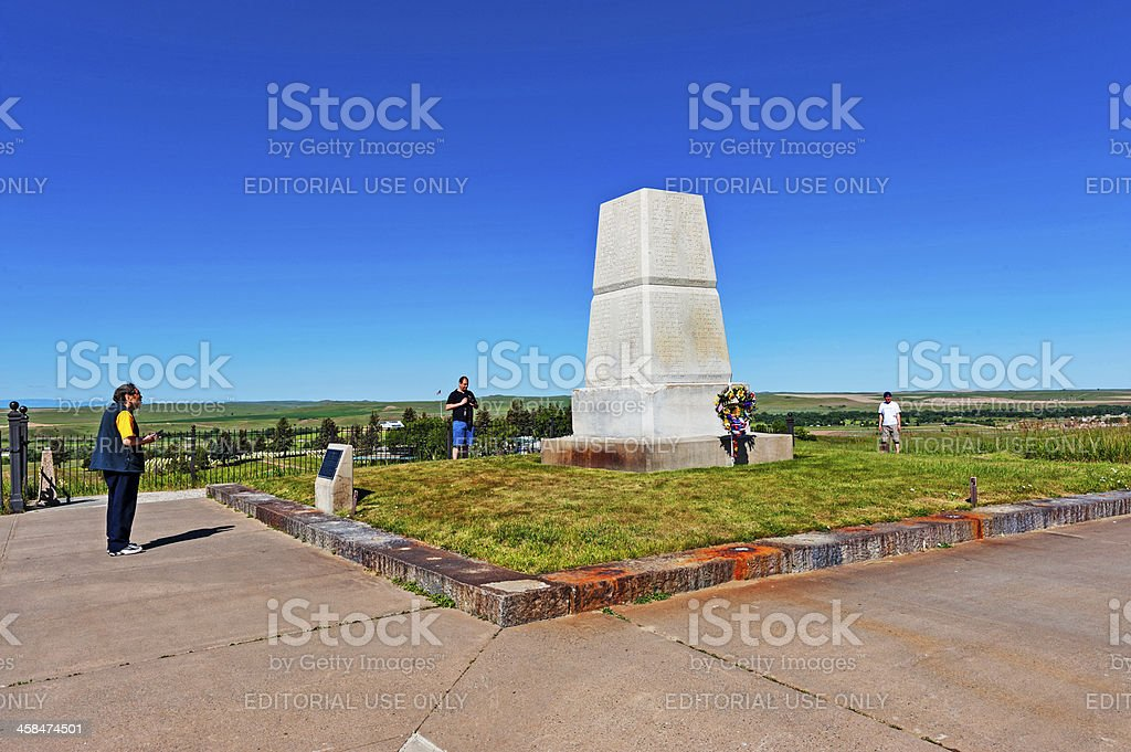Custers Last Stand royalty-free stock photo
