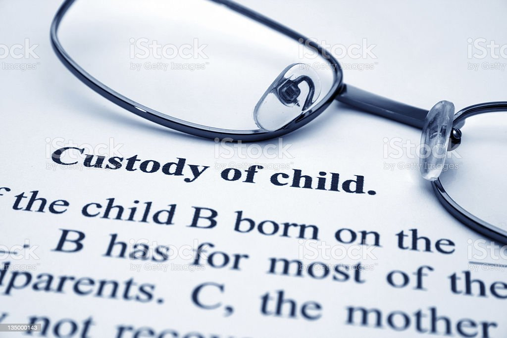 Custody of child royalty-free stock photo