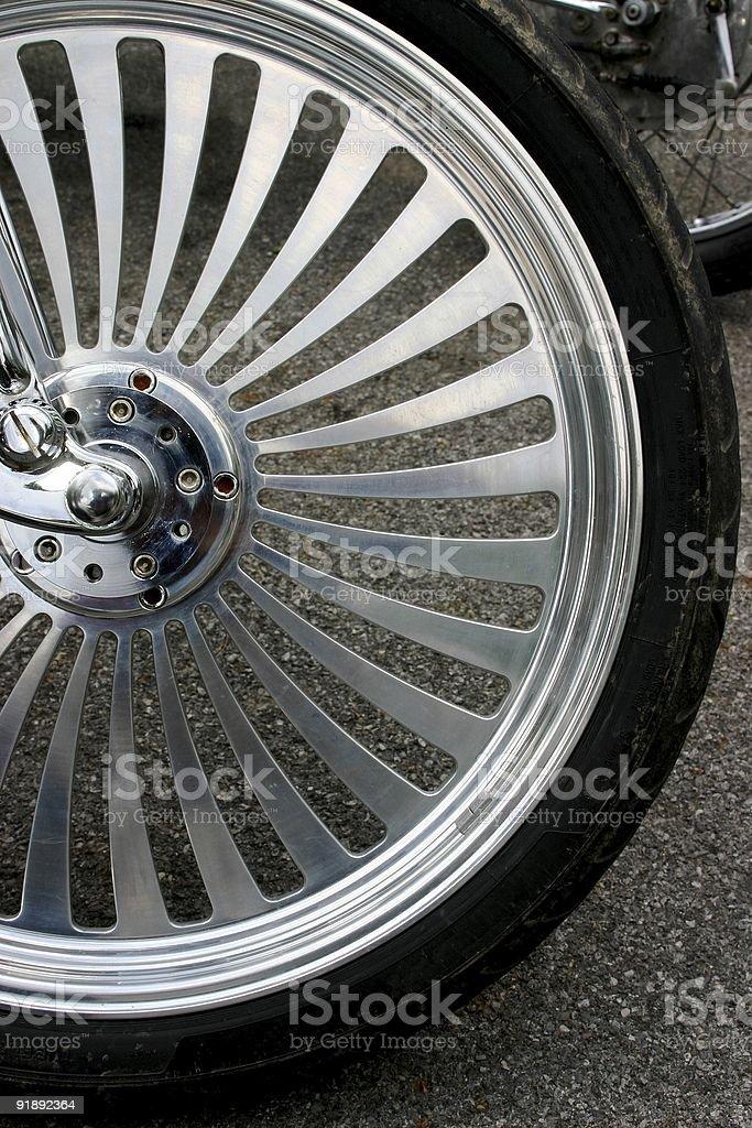 Custom aluminum motorcycl rim royalty-free stock photo