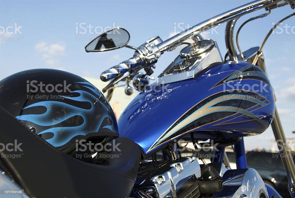 Custom Blue stock photo