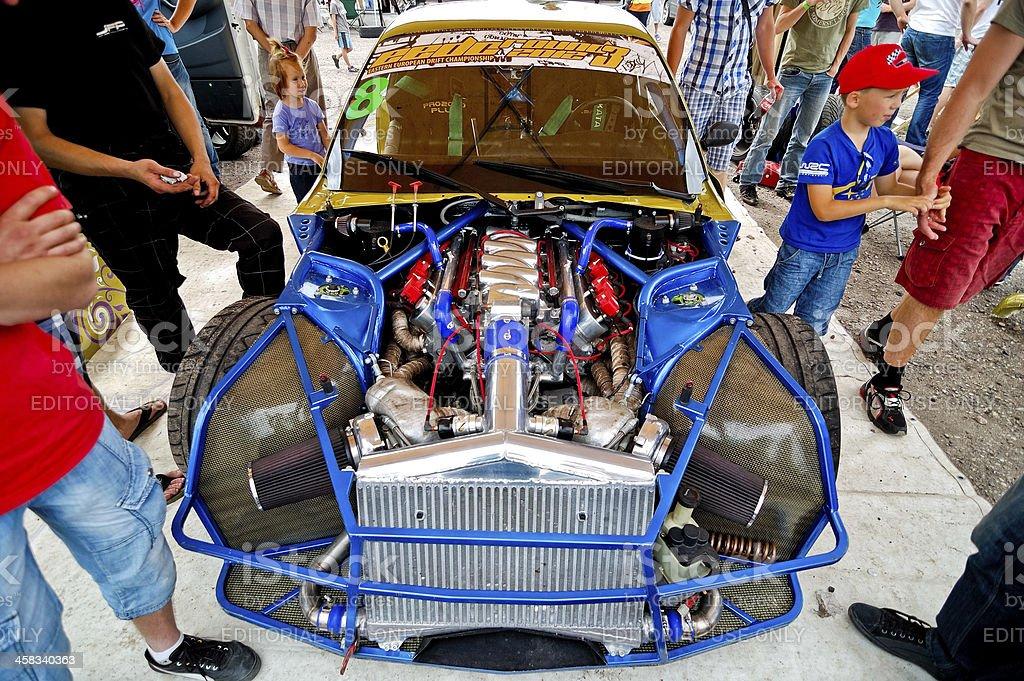 Custom BMW E36 producing 850 hp stock photo