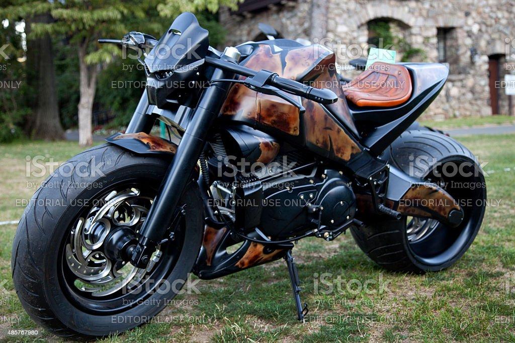 custom buell moto in auto da rally multiriga foto di stock